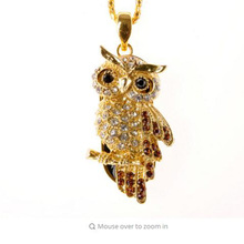 USB Flash Drive Diamond Metal Material Owl Cartoon USB 2.0 Flash Drive U Disk to 4 GB 8 GB 16 GB 32 GB flash drive(China)