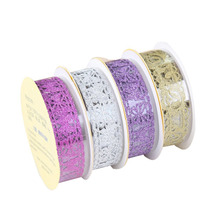 6pcs/Set Colorful Lace Decorative Tape Glitter Bling Self-adhesive Masking DIY Scrapbooking Sticker(China)