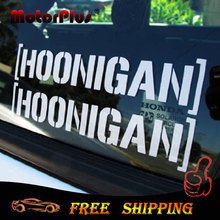 New 15.24cm x 7cm HOONIGAN Car Sticker Window Vintl Ken Block Decal Lowered Drift JDM Euro Racing For Honda For BMW For VW