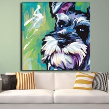 Hot Sell Schnauzer Dog Pop Art Wall Painting For Home Decor Idea Print On Canvas No Framed Picture Cuadros Decoracion