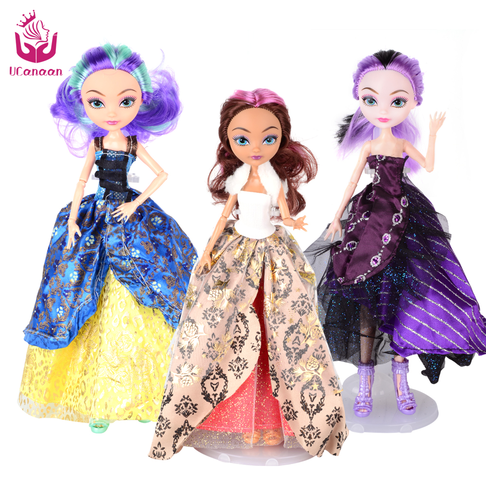 UCanaan 3 Dolls / Lot Ever After Doll  High Toys Apple White Madeline Hatter Raven Quee Joint Moveable 11 joints birthday gift<br><br>Aliexpress