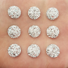 Artesanato 40PCS 12 mm of mineral surface flat ROUND resin DIY craft manualidades D679(China)