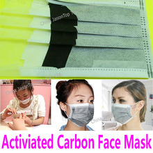 Activated Carbon Face Mask for Nail Art Protection 4 Layer Non Woven Mask Filter Paper Respirator Earmuff Anti Dust Methanal(China)