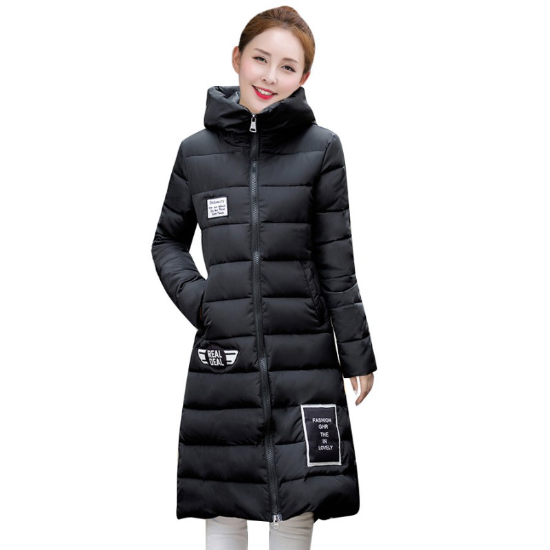 New Fashion Long Winter Jacket Women Slim Female Coat Thicken Parka Down Cotton Clothing Red Clothing HoodedОдежда и ак�е��уары<br><br><br>Aliexpress