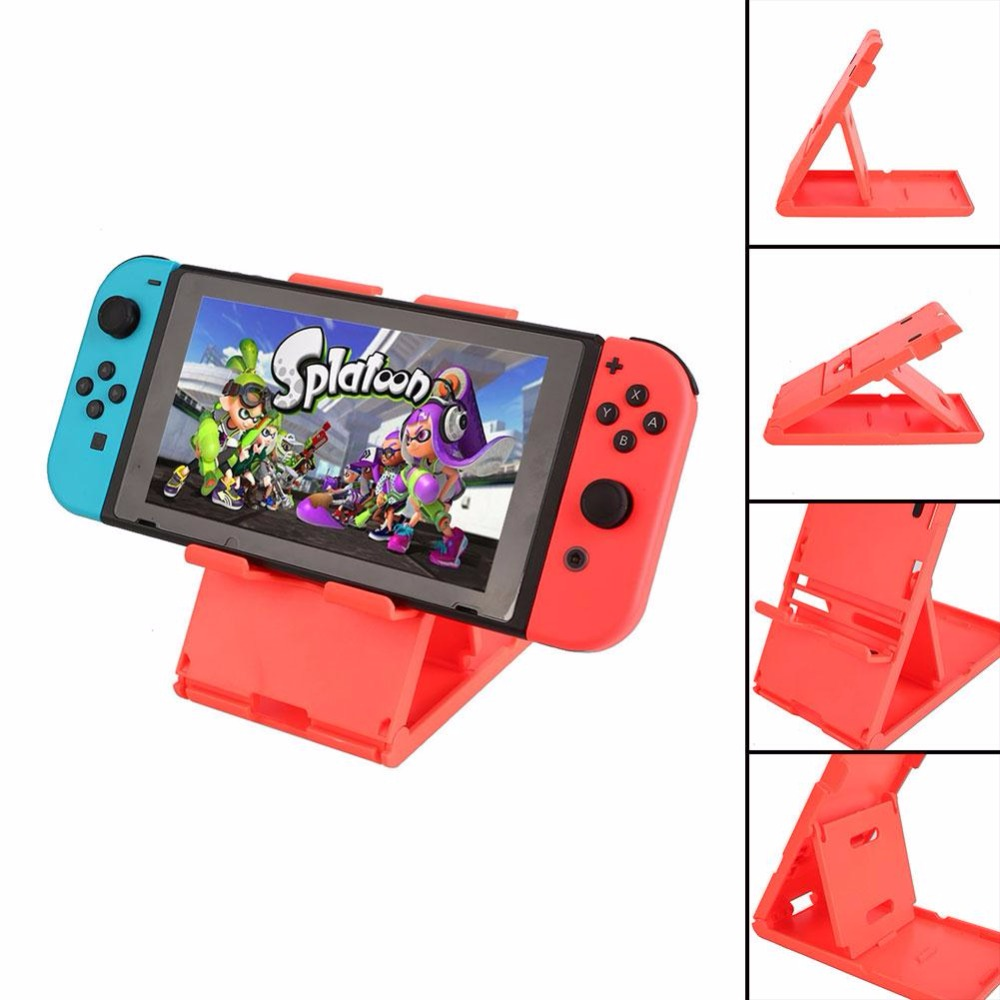 Gasky Adjustable Playstand Stands Mount Compact Red For Nintendo Switch Video Game Console Handheld Gaming Controller Boy Gift