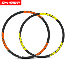 1Pcs Beebike Brand Carbon Wheels Bicycle Rims for Mountain Bike 26er Wheel 28/32 holes 3K Matt Design Top Quality bike rims(China)