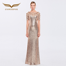 Coniefox 31391 Luxury ladies vestidos de festa vestido longo para casamento zuhair murad sexy long evening gowns dress 2016