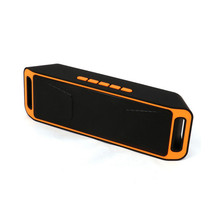 SC208 Portable Bluetooth Stereo Speaker Wireless Support FM Radio AUX USB TF Card Mic for IOS Android Phone