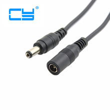 DC 5.5 * 2.1mm CCTV Extender Male to Female Barrel Connector power Extension Cord Cable 1m 100cm 3ft