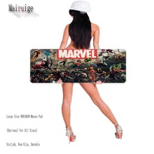 Free Shipping Marvel Comics XL900MM Large Keyboard Mat Diy Custom Professional Quality Anti-slip Natural Rubber Speed Mouse Pads