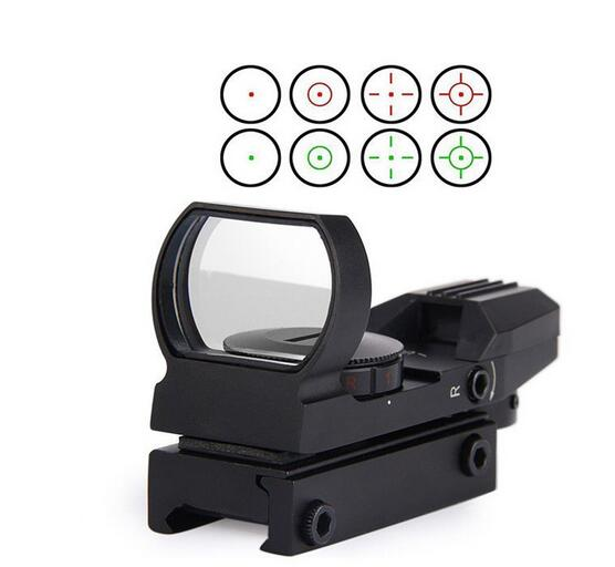 New Gadget Zone HD101 Tactical 4 Reticle Red and Green Dot Open Reflex Sight Scope with Rail Mount for 22 mm Rails<br><br>Aliexpress