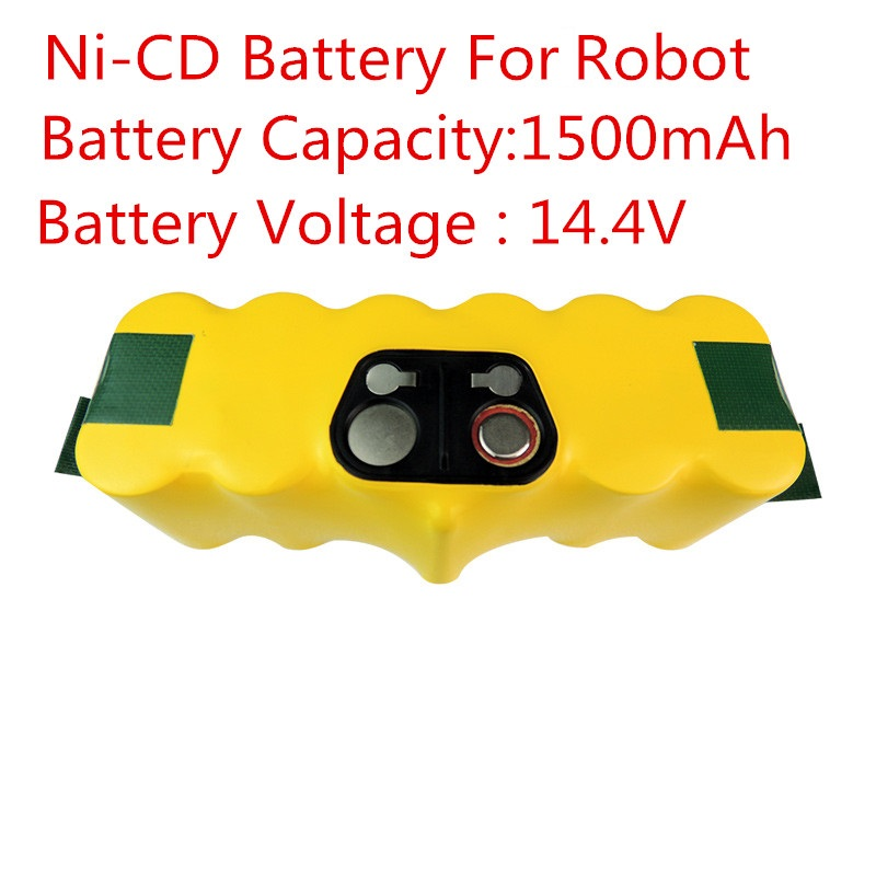 New Spare 14.4V Ni-CD 1500mAh Vacuum Cleaning Rechargeable Battery for iRobot Roomba 530 510 532 550 540 500 530 80501 610 R3<br>