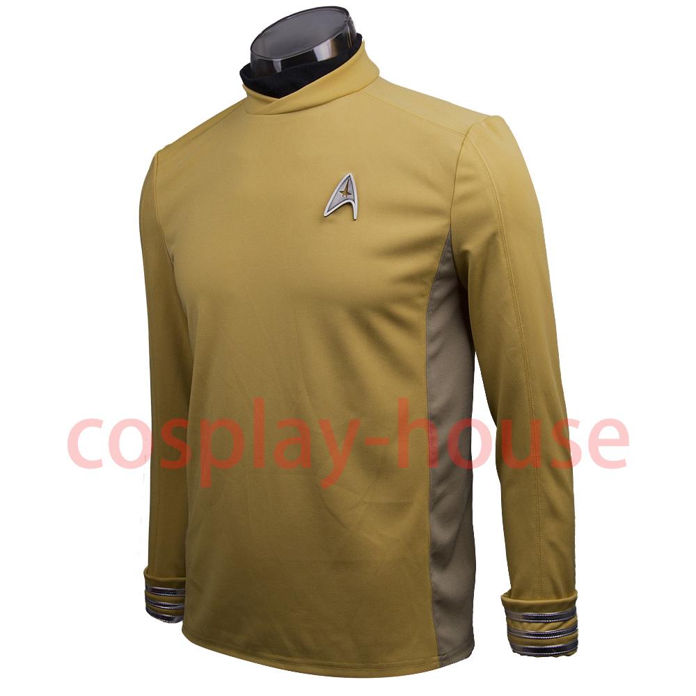 Star Trek Beyond Costume Cosplay Star Trek Yellow Captain Kirk Uniform Spock Uniform Scotty Halloween party Prop (2)