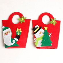 Christmas Gift Bag Holders Kids Party Christmas Decorations for Home Fabric Present Storage Bags Snowman Santa Claus(China)