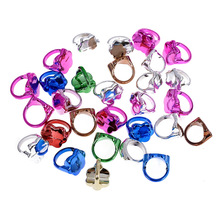 10 Pcs Lot Pinksee Mixed Colors Plastic Flower Rings For Childrens Fashion Kids Cosplay Decoration Jewelry Gifts