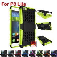 Armor Rugged Hybrid Hard PC TPU ShockProof Phone Mobil Phon Case capinha kryty Cover Cove Bag For Huawei P8 P 8 Lite Rose