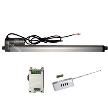 12Volt DC 450mm 18inch Stroke 1000N/220lbs 14mm/s Linear Actuator Putter +Wireless Remote Control Kit for Auto Boat Car Elevator