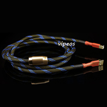 Aucharm top Copper plating silver HIFI fever CD amplifiers lotus head signal line audio decoder USB cable 1.5m