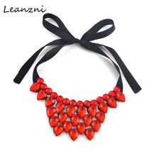 Leanzni  Crack, heart-shaped resin necklace fashion accessories short statement necklace gift wholesale women