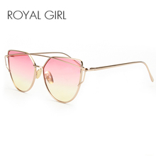 ROYAL GIRL High Quality Vintage Women Sunglasses Metal Frame Cat eye Sun glasses Ombre Shades ss720