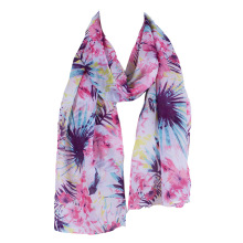 5 Colors Choose! Fahsion Chiffon Printing Leaf Printing Women Long Scarfs Pink Yellow Red Black Green 160*45cm(China)