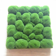 30x30cm stone shape Moss Grass Mat Green Artificial Lawns Turf Carpets Fake Sod Micro view Moss For home wedding Decoration(China)