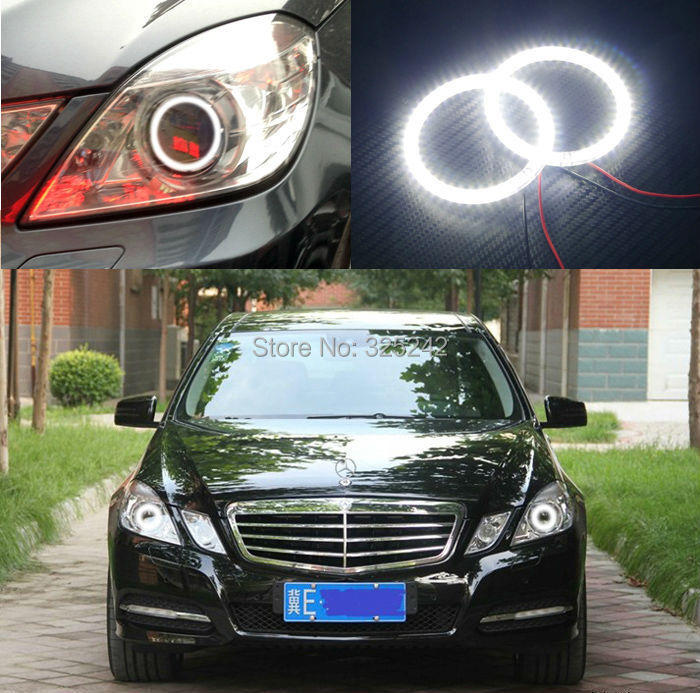For Mercedes-Benz E-Class W212 C207 2010-2013 Excellent led Angel Eyes Ultrabright illumination smd led Angel Eyes Halo Ring kit<br><br>Aliexpress