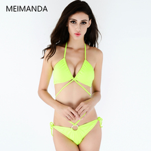 2016 Brand New Swim One Piece Siamese suits Bright Yellow  Bathing Suits Girls Sexy Beach swimsuit women HZ16053