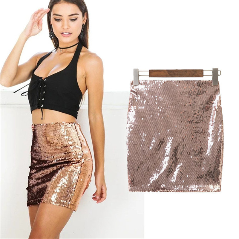 Silver sequin mini skirt pictures