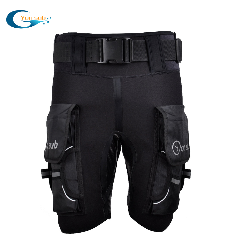 Yonsub 3MM Neoprene  Tech Shorts Submersible Load Weight Pocket Leg Thigh Pants Bandage Pant Scuba Diving