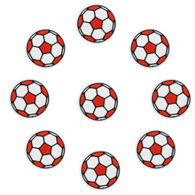 10 pcs Footballs patches badges for clothing iron embroidered patch applique iron on patches sewing accessories for DIY clothes(China)