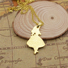 LPHZQH fashion Alice In Wonderland pendant necklace Women tiny chain choker necklace collar Jewelry charm gift gold silver color(China)
