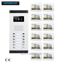"HOMSECUR 10.1"" Apartment Video Secure Doorbell Intercom with IR Camera for Secure Home(China)"