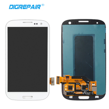 White For Samsung Galaxy S3 i9300 LCD Display Touch Screen Digitizer Full Assembly Replacement, Free Shipping+Tracking No.(China)