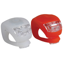 Clip-On Silicon LED Light Set, Red, White(China)
