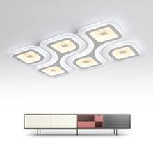 Square Ultra-thin modern LED chandelier Surface mount Acrylic chandelier lighting for living room dining room lamparas de techo