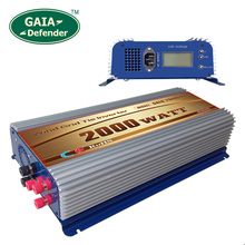 2000W LCD display Wind Power Grid Tie Inverter with Dump Load Controller for 3 Phase wind turbine(China)