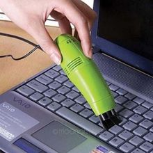 1pc Mini USB Vacuum Computers Laptop Keyboard Cleaner Vacuum Brush yellow