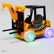 electric car hoist model led shining and turning around with music very cool arm can move(China)