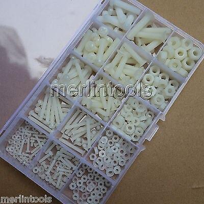 420Pcs Nylon Plastis Screw Nut Washer Assortment Kit M2 M2.5 M3 M4 M5 M6<br>