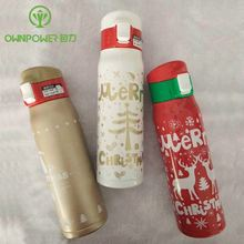 500ml Christmas Vacuum Flasks Stainless Steel Thermos New Thermomug Hot Swig Termos Cute Hydro Flask Christmas Gift Water Bottle(China)