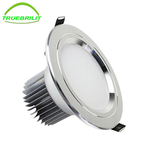 Led Spot Dimmable Downlights 3W 5W 7W 9W 12W Lighting Lamp AC110V 220V Recessed Down Lights Led Cabinet Light silver(China)