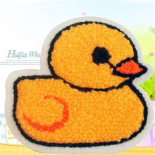 Embroidered patches for clothes Fashion cute yellow duck deal with it clothing DIY Motif Applique Free shipping