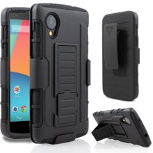 Heavy Duty Case Cover Armor Impact Combo Holster Shockproof Hard Case With Belt Clip For LG Google Nexus 5 E980 D820 D821(China)