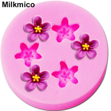 Milkmico M060 Mini Flower shaped silicone mold Fondant Cake Decorating Tools Silicone Decoration Mold Silicone Cake Mold(China)