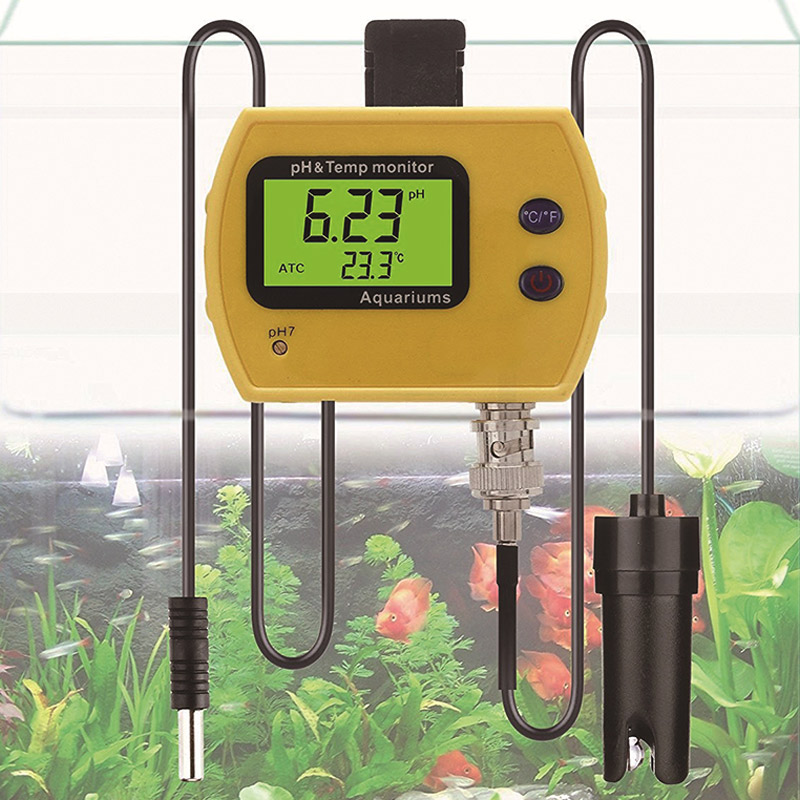 Digital PH Thermometer Temperature Monitor With Replaceable BNC PH Probe Tool CLH@8<br>