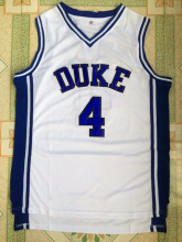 SEA PLANETSP Men's Blue and White Duke University #4 J.J Redick basketball jersey free shipping