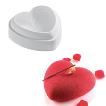 Love Heart Shape Silicone Mold Valentine Chocolate Jelly Ice Cream Mousse Cake Pan Pastry Baking Tool Bakeware Kitchen Mould