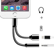 Mantis 2 In 1 for iPhone Cable 3.5mm Earphone Audio Jack and Charger Adapter Connector Cord USB Cable Line for iPhone 7 Plus