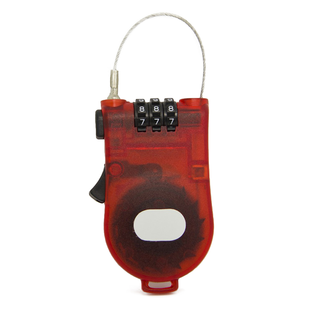 Retractable Bike Bicycle Combination Steel Cable Code Lock Luggage Padlock